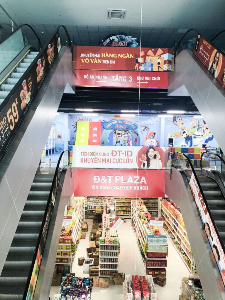 Quy mô dự án khu mua sắm tại tầng 1 và khu vui chơi tại tầng 2 và tầng 3